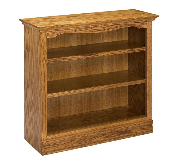 "36"" Solid Oak Americana Bookcase By A & E Wood Designs"