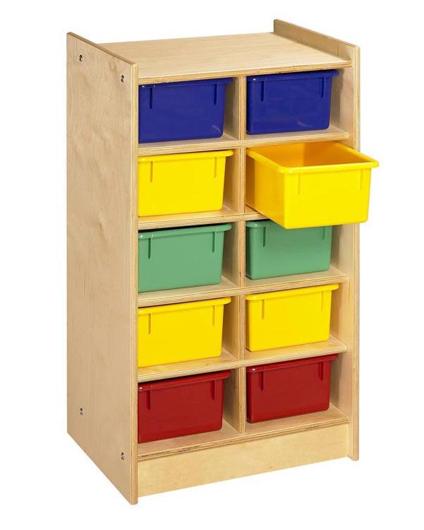 10 Unit Mobile Cubbie Storage By A & E Wood Designs