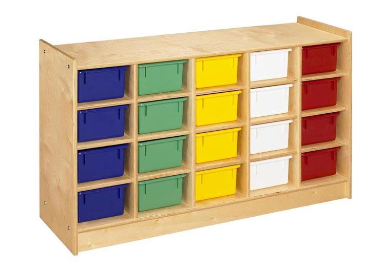 20 Unit Mobile Cubbie Storage By A & E Wood Designs