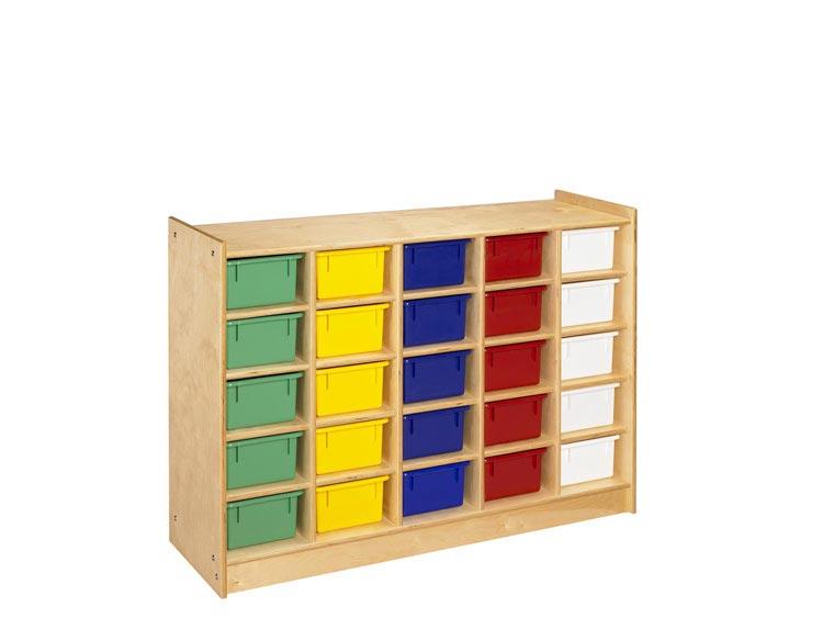 25 Unit Mobile Cubbie Storage By A & E Wood Designs
