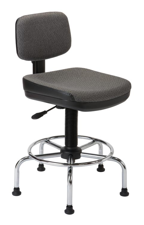 Utility Stool With Backrest By Alvin