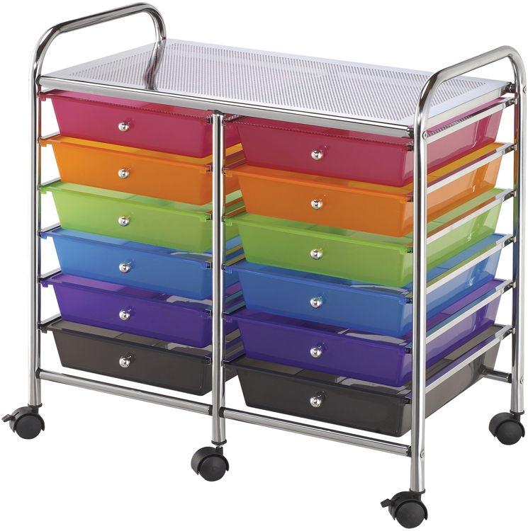 Twelve Drawer Storage Cart By Alvin