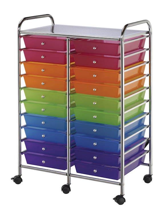 Twenty Drawer Storage Cart By Alvin