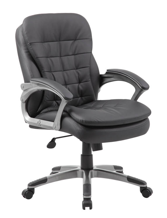 Executive Mid Back Pillow Top Chair By Boss Office Chairs