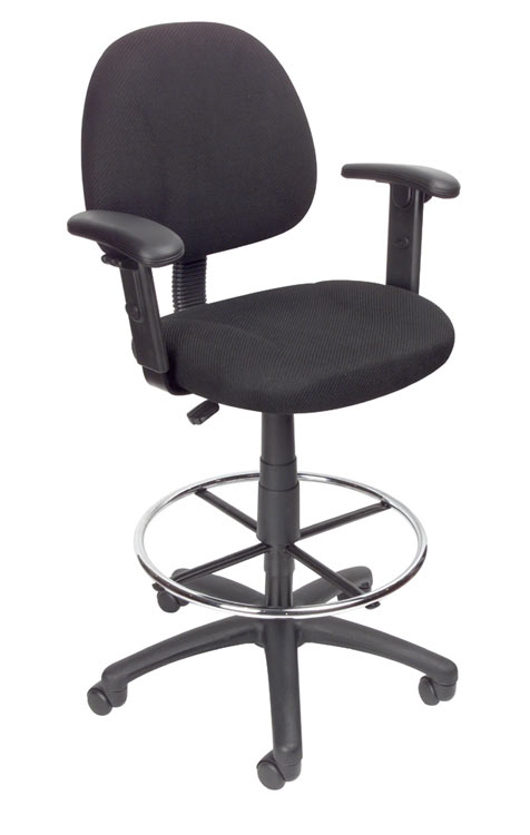 Drafting Stool With Adjustable Arms By Boss Office Chairs