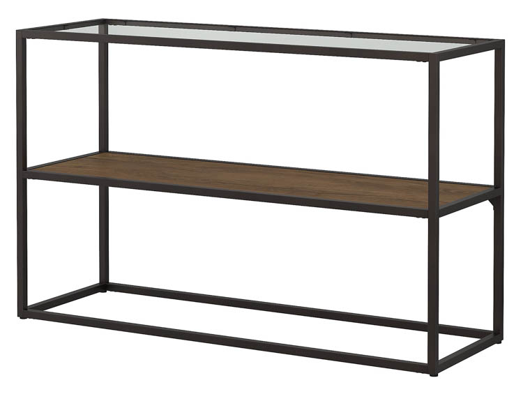 Glass Top Console Table by Bush