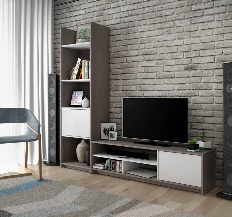 2-Piece TV Stand and Storage Tower Set by Bestar