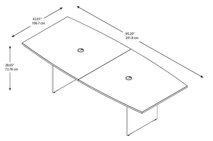 Bush Furniture For Your Home And Office Bush Furniture Go - Boat shaped conference table dimensions