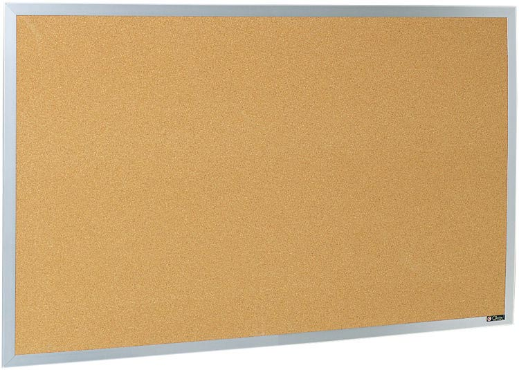 4 X 12 Aluminum Framed Bulletin Board By Claridge