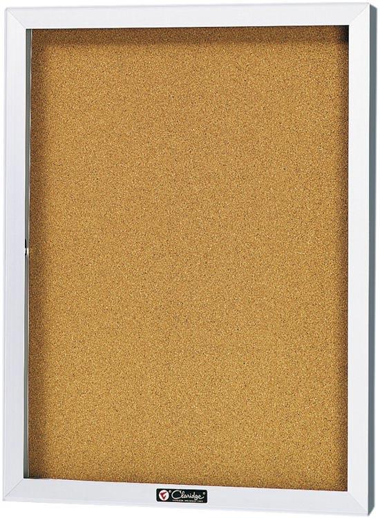 36 X 30 Bulletin Board Cabinet By Claridge