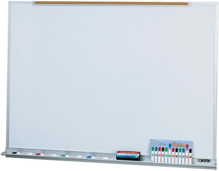 4 X 16 Porcelain Markerboard With Map Rail By Claridge