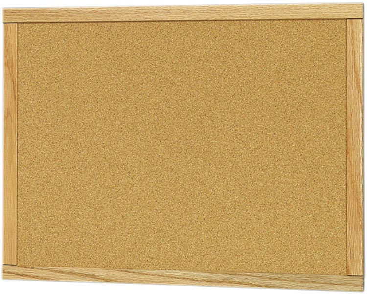 36 X 48 Wood Framed Bulletin Board By Claridge