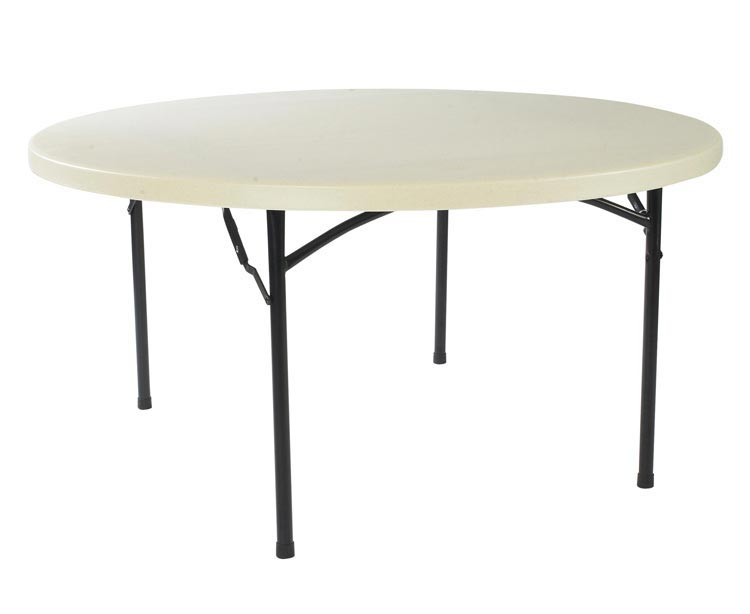 60 Round Blow Molded Folding Table by Commercialine
