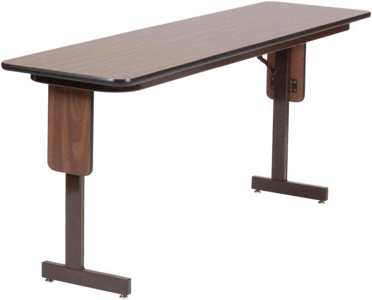 "18"" X 72"" Panel Leg Seminar Table By Correll"