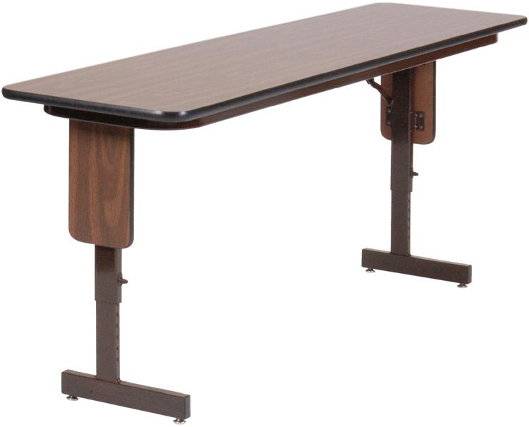 """18"""" X 96"""" Adjustable Height Panel Leg Seminar Table By Correll"""