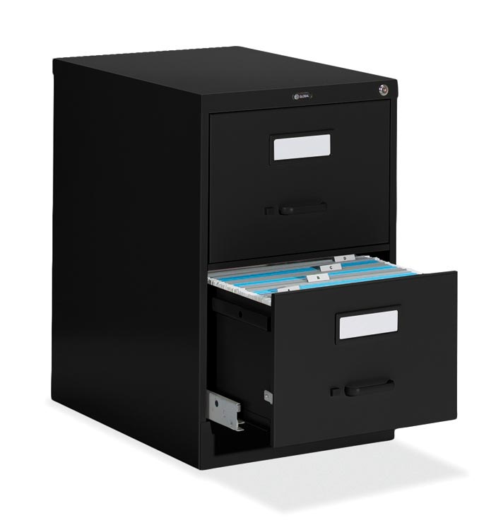 "2 Drawer Legal Size Vertical File - 25""d By Global"