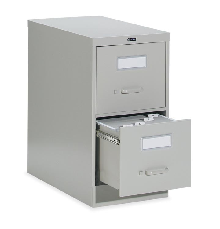 "2 Drawer Legal Size Vertical File - 26-1/2""d By Global"