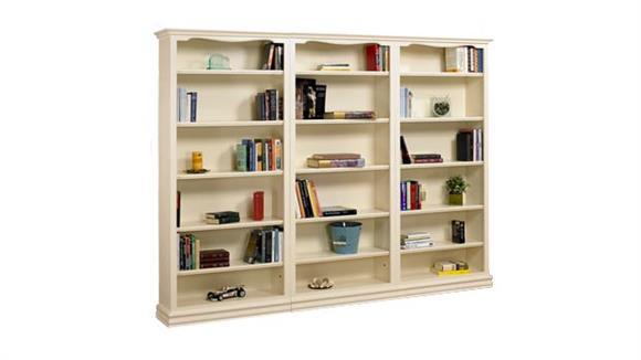 "Bookcases A & E Wood Designs 84"" High Cape Cod 3 Piece Wall Unit"