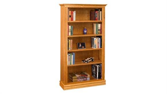 "Bookcases A & E Wood Designs 72"" Solid Wood Monticello Cherry Bookcase"