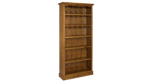 """Bookcases A & E Wood Designs 84"""" Solid Oak Americana Bookcase"""