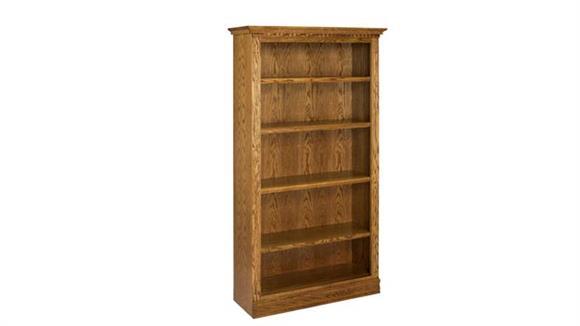"""Bookcases A & E Wood Designs 72"""" Solid Oak Britania Bookcase"""