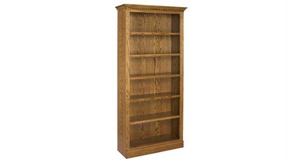 """Bookcases A & E Wood Designs 84"""" Solid Oak Britania Bookcase"""