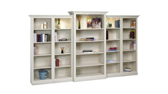 Bookcases A & E Wood Designs Hampton 5 Piece Wall Unit