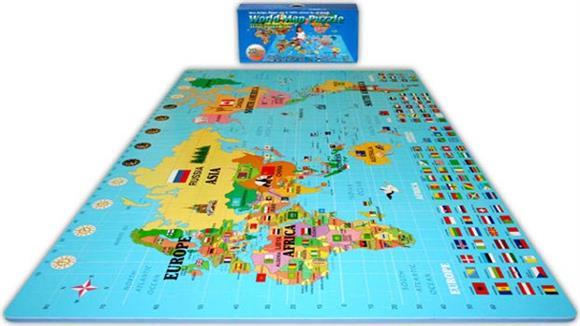 Activity & Play Alessco World Map Foam Puzzle Floor Mat