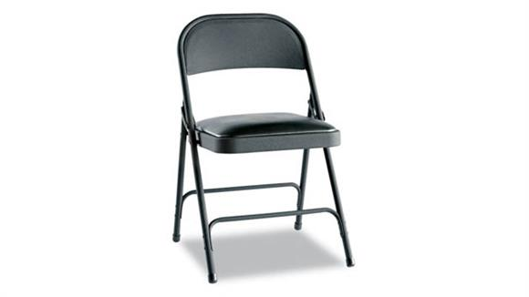Folding Chairs Alera Steel Folding Chair with Padded Seat - 4/PK