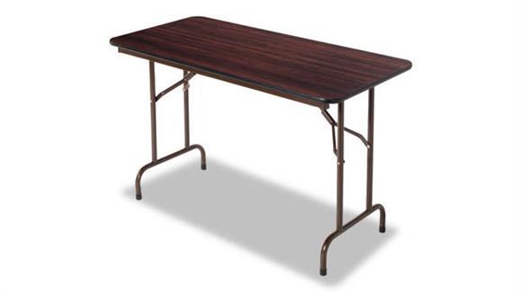 "Folding Tables Alera 48""W x 24""D x 29""H Wood Folding Table"