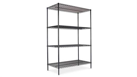 Shelving Alera Industrial Heavy-Duty Wire Shelving Starter Kit