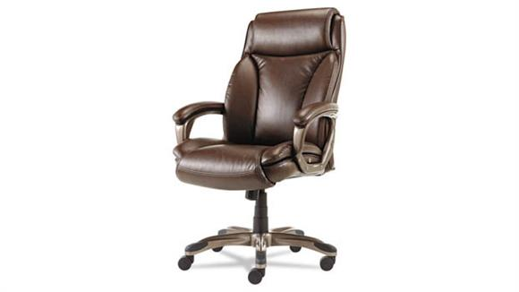 Office Chairs Alera Executive High-Back Leather Chair