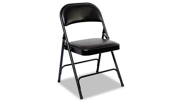 Folding Chairs Alera Steel Folding Chair with Padded Back/Seat - 4/PK