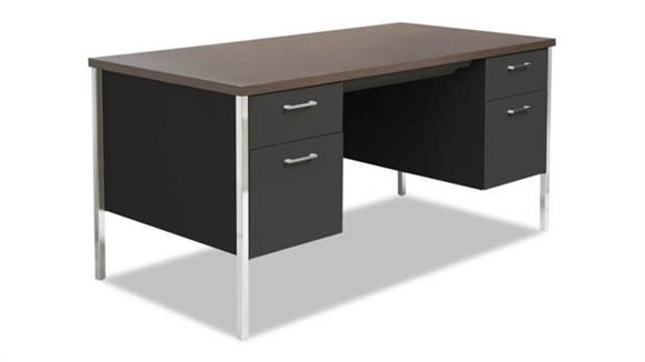 "Steel & Metal Desks Alera 60"" x 30"" Double Pedestal Steel Desk"