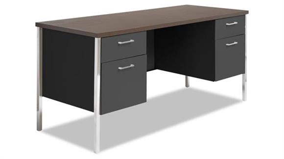 Steel & Metal Desks Alera Double Pedestal Steel Credenza