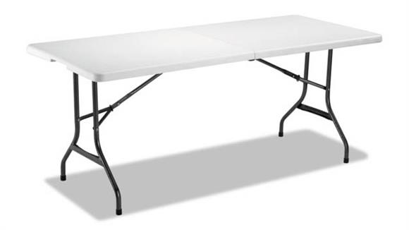 "Folding Tables Alera 71""W x 30""D x 29""H Fold-in-Half Resin Folding Table"