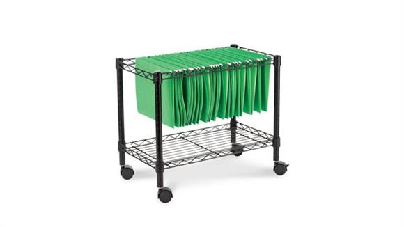 Mobile File Cabinets Alera Single Tier Rolling File Cart