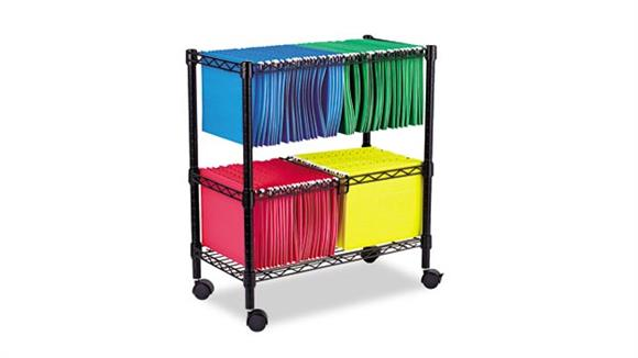 Mobile File Cabinets Alera Two Tier Rolling File Cart
