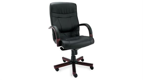 Office Chairs Alera High Back Leather Swivel Chair