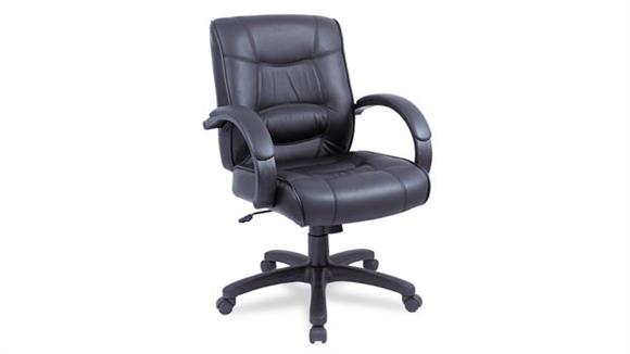 Office Chairs Alera Mid Back Leather Chair