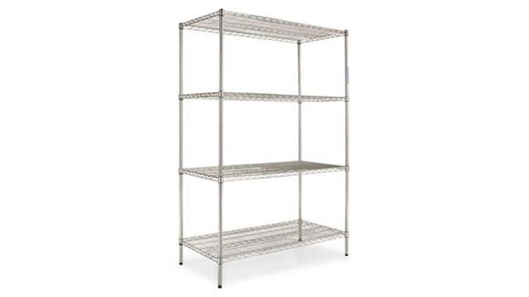Shelving Alera Industrial Heavy Duty Wire Shelving Starter Kit