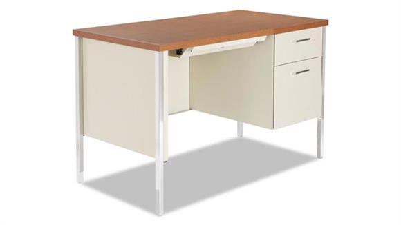 Steel & Metal Desks Alera Single Pedestal Steel Desk