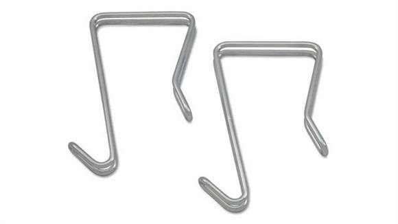 Coat Racks Alera Single Sided Partition Garment Hook, 2/PK