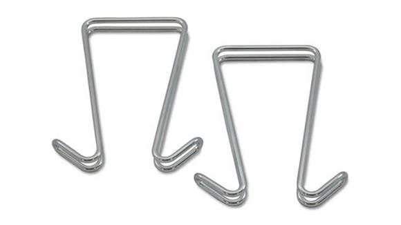 Coat Racks Alera Double Sided Partition Garment Hook, 2/PK
