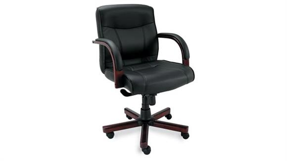 Office Chairs Alera Mid Back Leather Swivel Chair