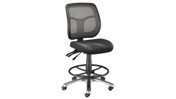 Office Chairs Alvin Drafting Height Argentum Mesh Back Chair