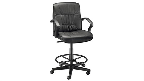 Office Chairs Alvin Drafting Height Art Director Executive Leather Chair