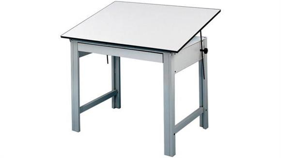 Drafting Tables Alvin Four Post Compact Drawing Table