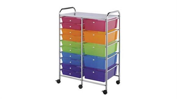 Utility Carts Alvin Fifteen Drawer Storage Cart