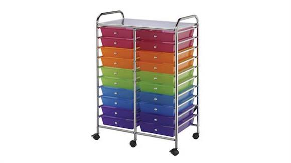 Utility Carts Alvin Twenty Drawer Storage Cart